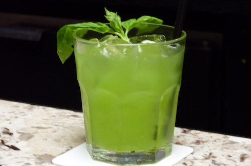 Brazil Smash with Basil and Sagatiba Cachaca