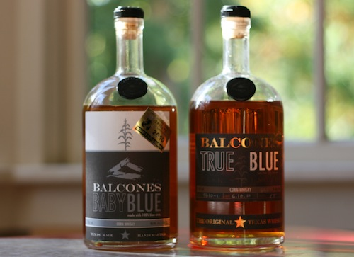 Baby Blue and True Blue Corn Whiskey