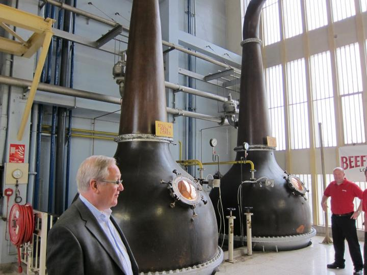 Two of the stills at Beefeater