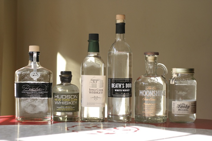 Pritchards, Hudson Corn Whiskey, Broadbent Iowa Corn, Death's Door, Moonshine, Ole Smoky
