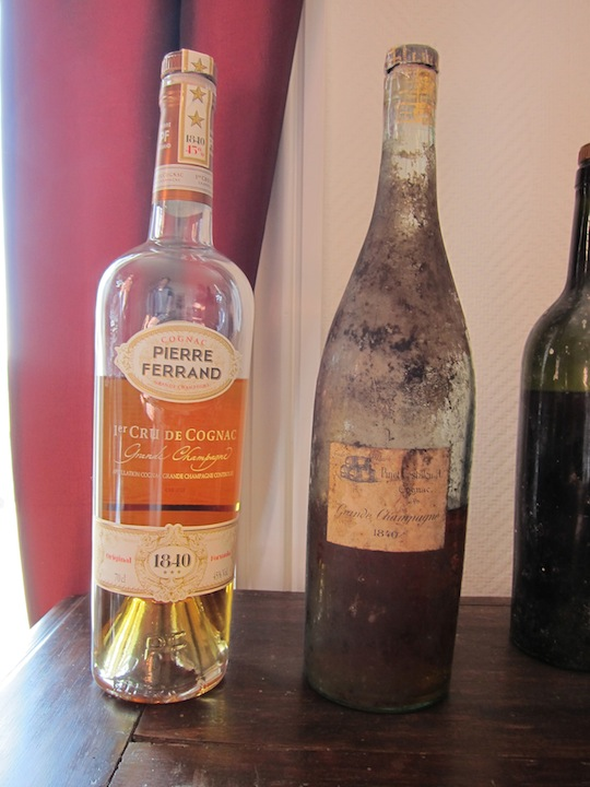 1840 Pierre Ferrand Cognac Next To Actual 1840 Cognac