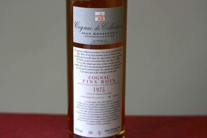 Cognac Jean Grosperrin - 1975 Cognac Fins Boils