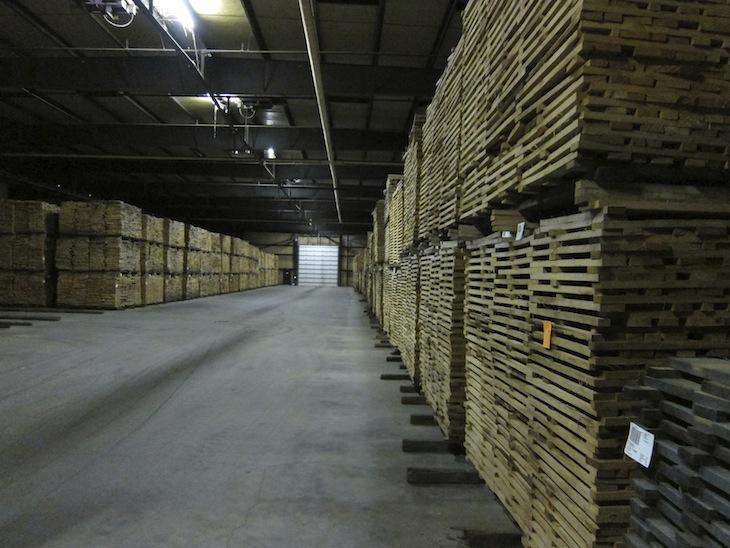 Oak for Jack Daniels Barrels in Huge Kiln