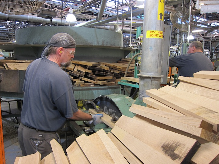 Wood Planks Become Staves for Jack Daniels Barrels