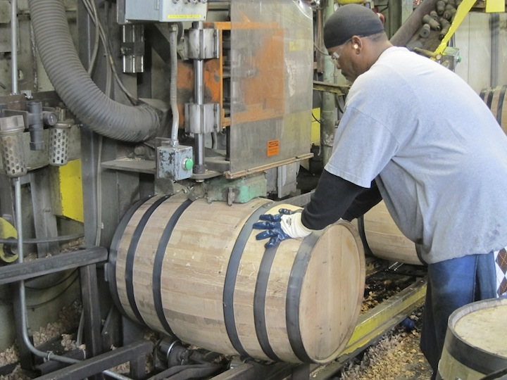 A Bung Hole is Cut and The Barrel is Tested