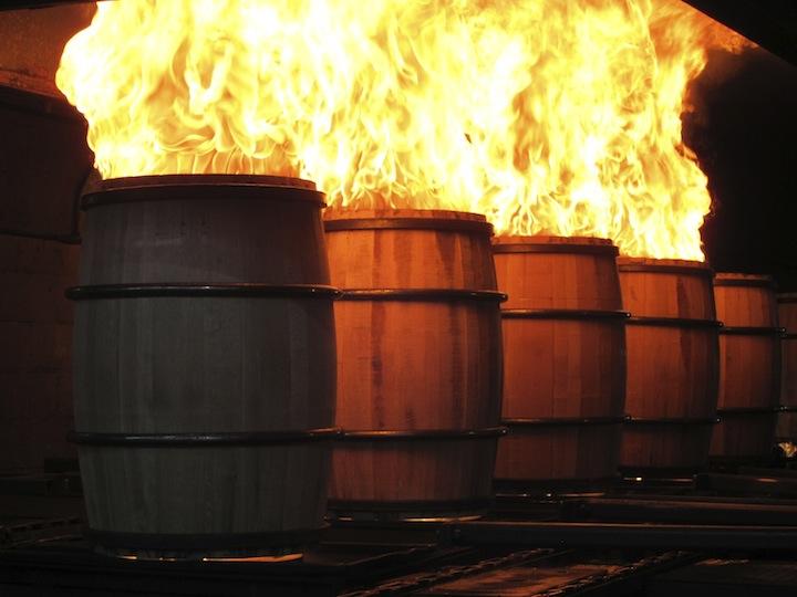 Jack Daniel's Whiskey Barrels on Fire