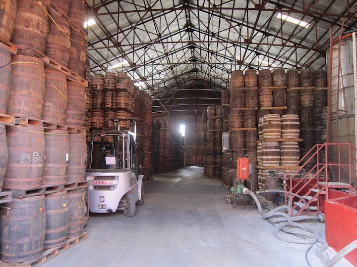Angostura Barrels Age End To End To Reduce Loss