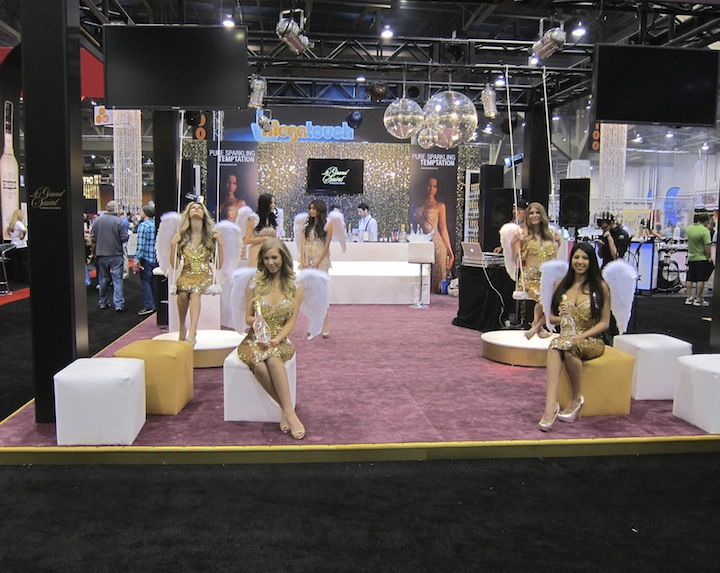 Angels Swing at The Le Grand Saint Sparkling Vodka Booth