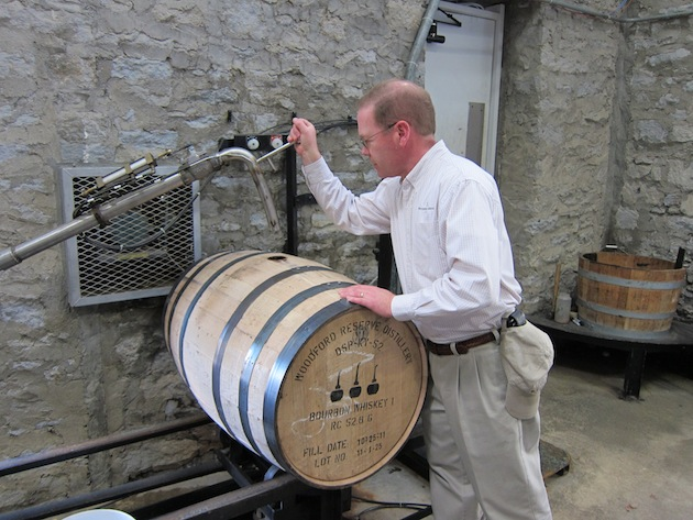 Chris Morris Fills A Barrel With Woodford Reserve