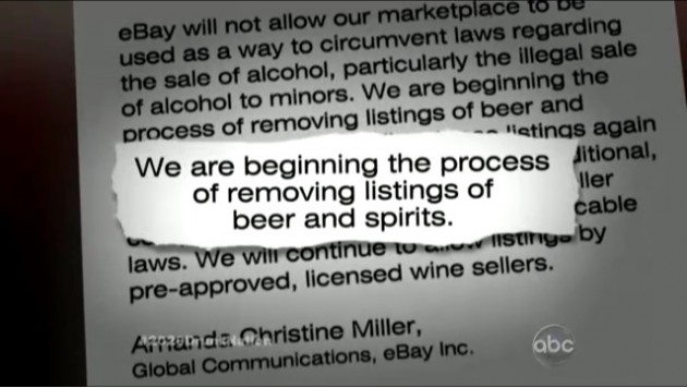 Ebay Bans Alcohol