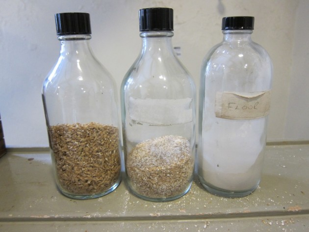 Malt Separated into Husk, Grist and Flour