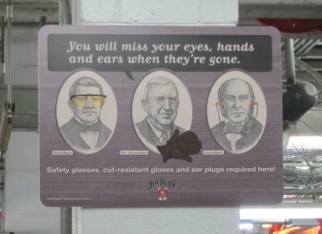 Safety Signs at Jim Beam