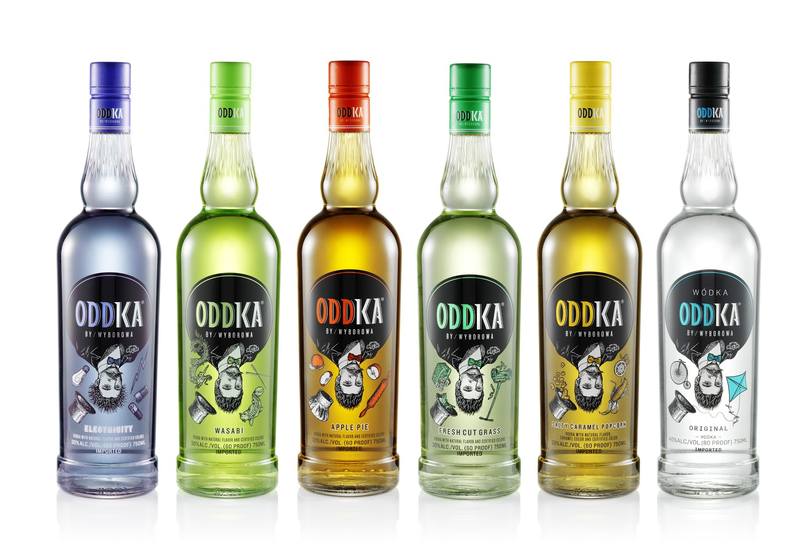 Oddka fresh cut grass wasabi apple pie salty caramel for Flavored vodka mixed drinks