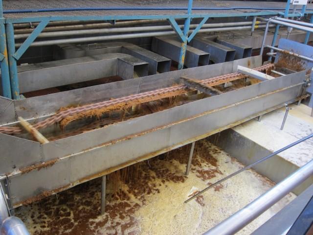 Crushing Pinas And Making Agua Miel