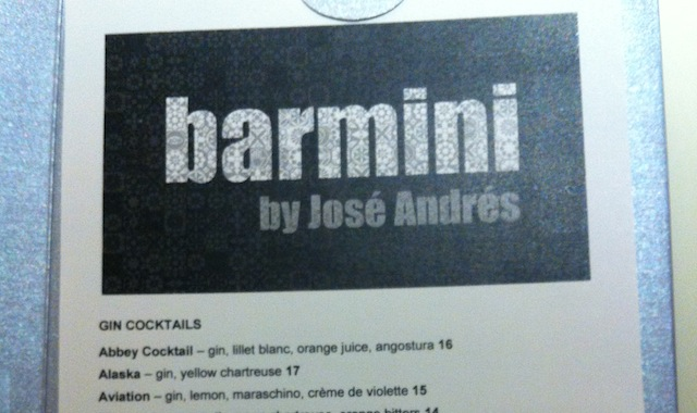 Barmini by Jose Andres