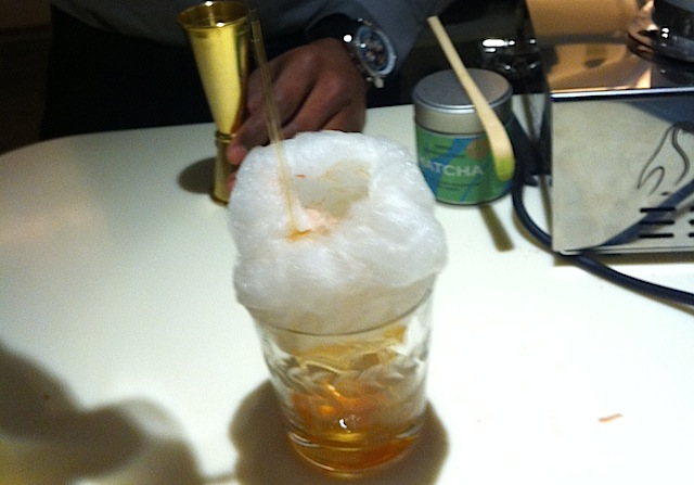 Old Fashioned with Mezcal Cotton Candy