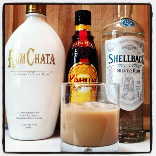 Review rum chata horchata con ron drink spirits for Mixed drinks with white rum