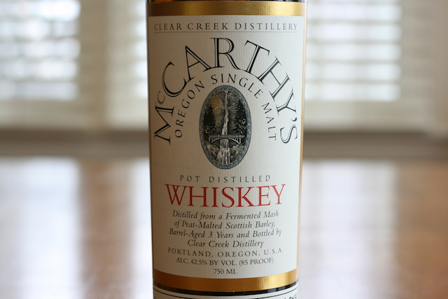 McCarthy's Oregon Single Malt Whiskey