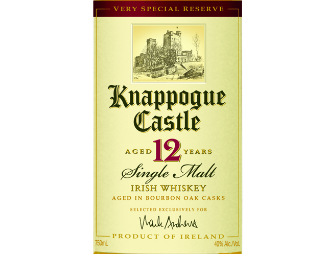 Knappogue Castle 12 Year Old Single Malt Irish Whiskey