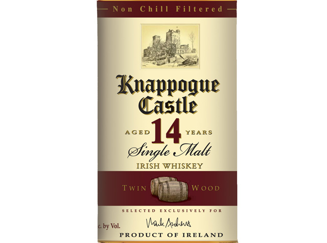 Knappogue Castle 14 Year Old Twin Wood Single Malt Irish Whiskey