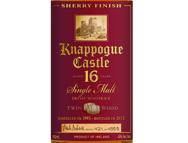 Knappogue Castle 16 Year Old Twin Wood Single Malt Irish Whiskey
