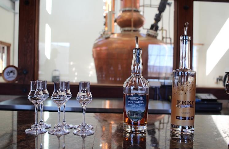 Churchill Brandy and Frey Ranch Vodka